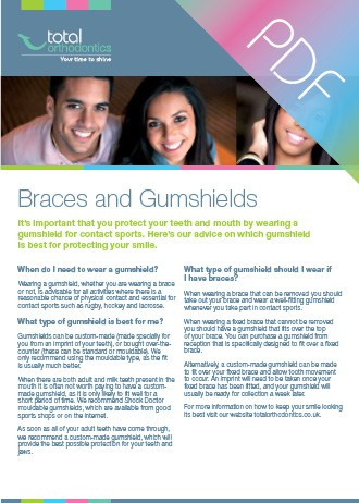 Braces and gumshields