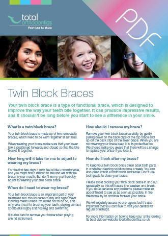 Twin block braces